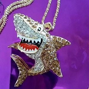 Shark!  Betsey Johnson!  Necklace